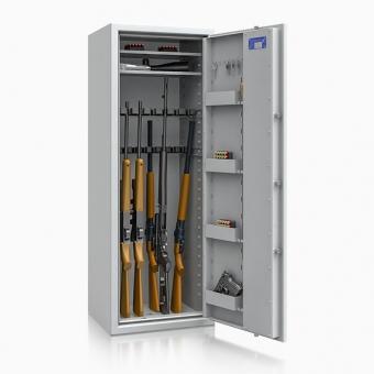 Waffenschrank 55631 Luzern (1500x550x450mm) Klasse 0 , 16 Waffenhalter