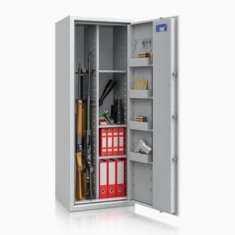Waffenschrank Kombi 1-7 (1500x550x450mm) Klasse 1 , 7 Waffenhalter + Regalteil