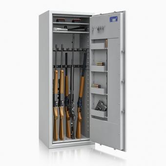 Waffenschrank 56466 St. Gallen (1500x550x450mm) Klasse 1 , 16 Waffenhalter