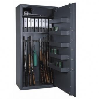 Waffenschrank Format Cervo V (1850x850x550mm) , VdS Klasse I , 14 Waffenhalter , inkl. 5 Staufächer sowie 1 Fachboden