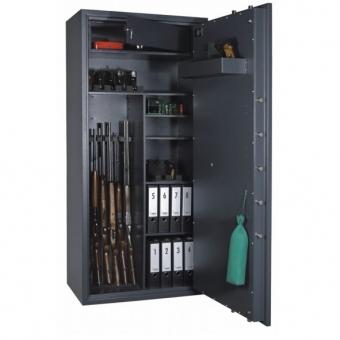 Waffenschrank Format Cervo V Kombi Klasse I , 7 Waffenhalter , inkl. Fachboden , inkl. Trennwand mit 3 Fachböden , inkl. 1 Staufach