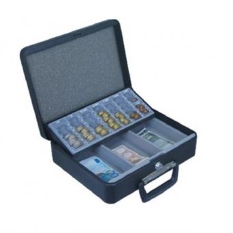 Geldzählkassette Moneta (95x300x240mm) Scheinfach und Hartgeldeinsatz , Preis inkl. Fracht