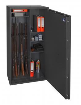 Waffenschrank Gun Safe 1-8Kombi (1548x848x418mm) Klasse 1 , 8 Waffenhalter + Regalteil