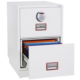 Hängeregistraturschrank Phoenix Firefile FS2262E (720x530x810mm) 2 Schubladen, Elektronikschloss