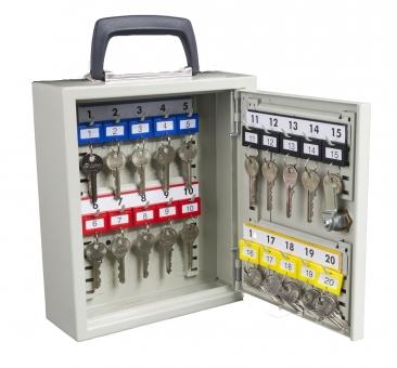 Schlüsselschrank mit Tragegriff für 20 Schlüssel