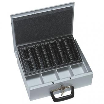 Geldzählkassette Finanza (90x355x275mm) Scheinfach und Hartgeldeinsatz , grau