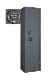 Waffenschrank Format WF 1500-7 Elo (1500x400x335mm) 7 Waffenhalter , Sicherheitsstufe A mit Innentresor Stufe B , Elektronikschloss