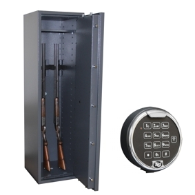 Waffenschrank Gun Safe 1-5E (1400x400x420mm) Klasse 1 , 5 Waffenhalter - Elektronikschloss