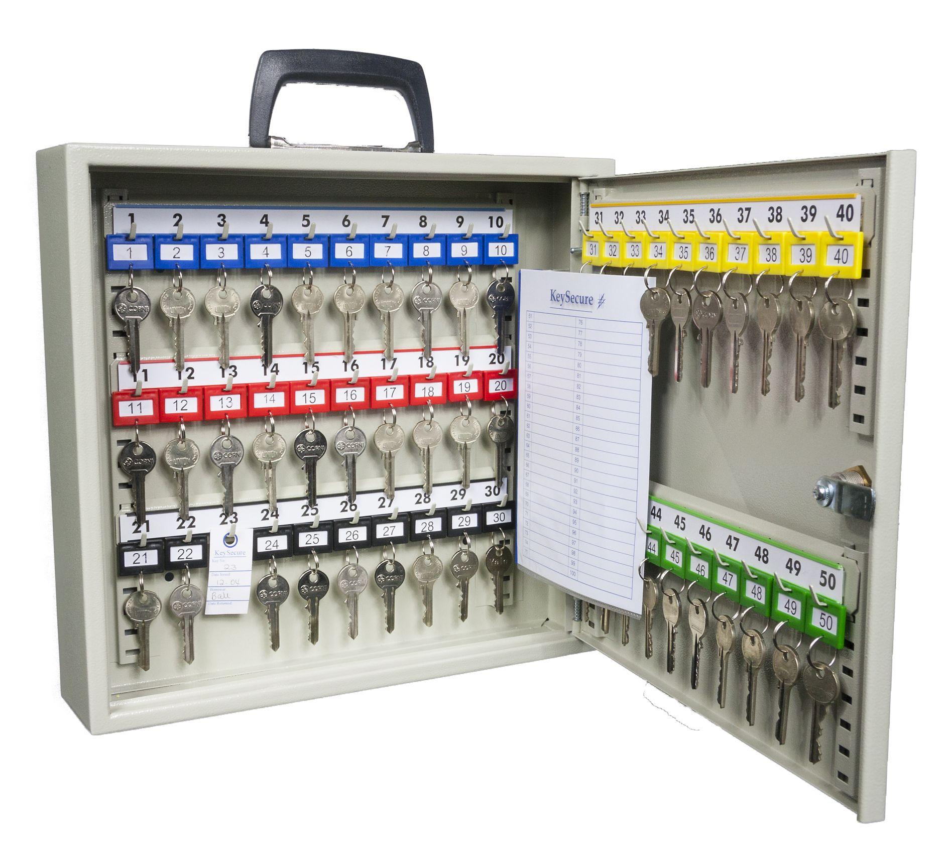 Schlüsselschrank mit Griff für 50 Schlüssel | Melsmetall.de