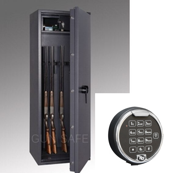 waffenschrank gun safe 1 8e 1498x508x418mm klasse 1 8 waffenhalter elektronikschloss. Black Bedroom Furniture Sets. Home Design Ideas