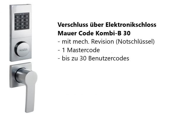 Elektronikschloss Mauer CCB 30 mit Notschlüssel + 329 EUR 953,00 €