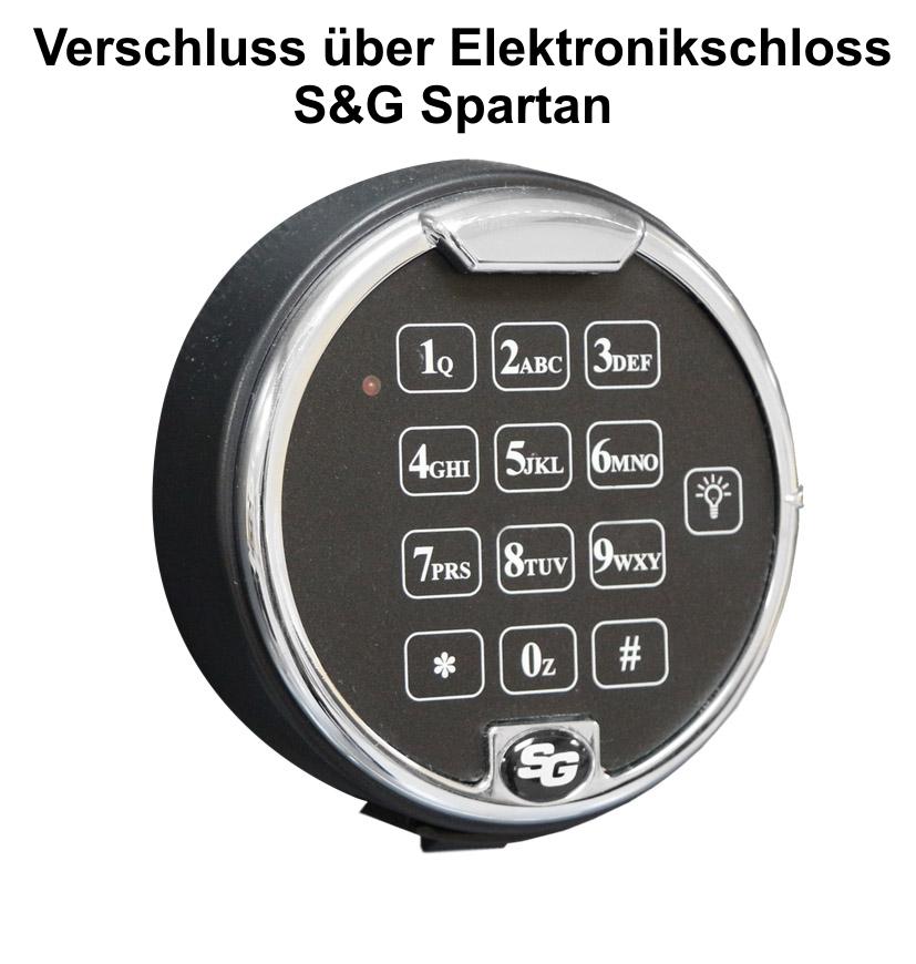 Elektronikschloss S&G Spartan + 139 EUR ab  1.583,00 €